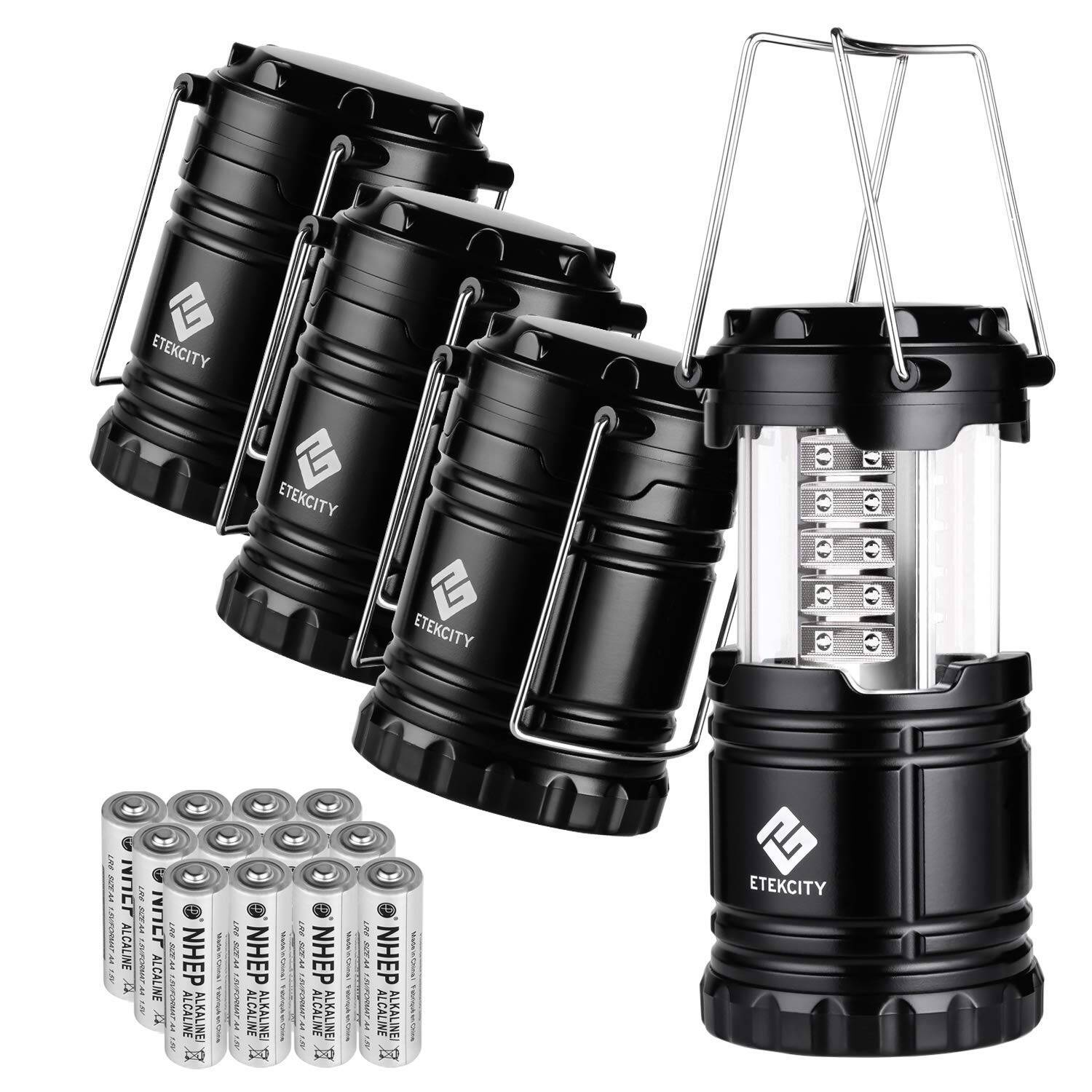 Etekcity 4 Pack Portable LED Camping Lantern
