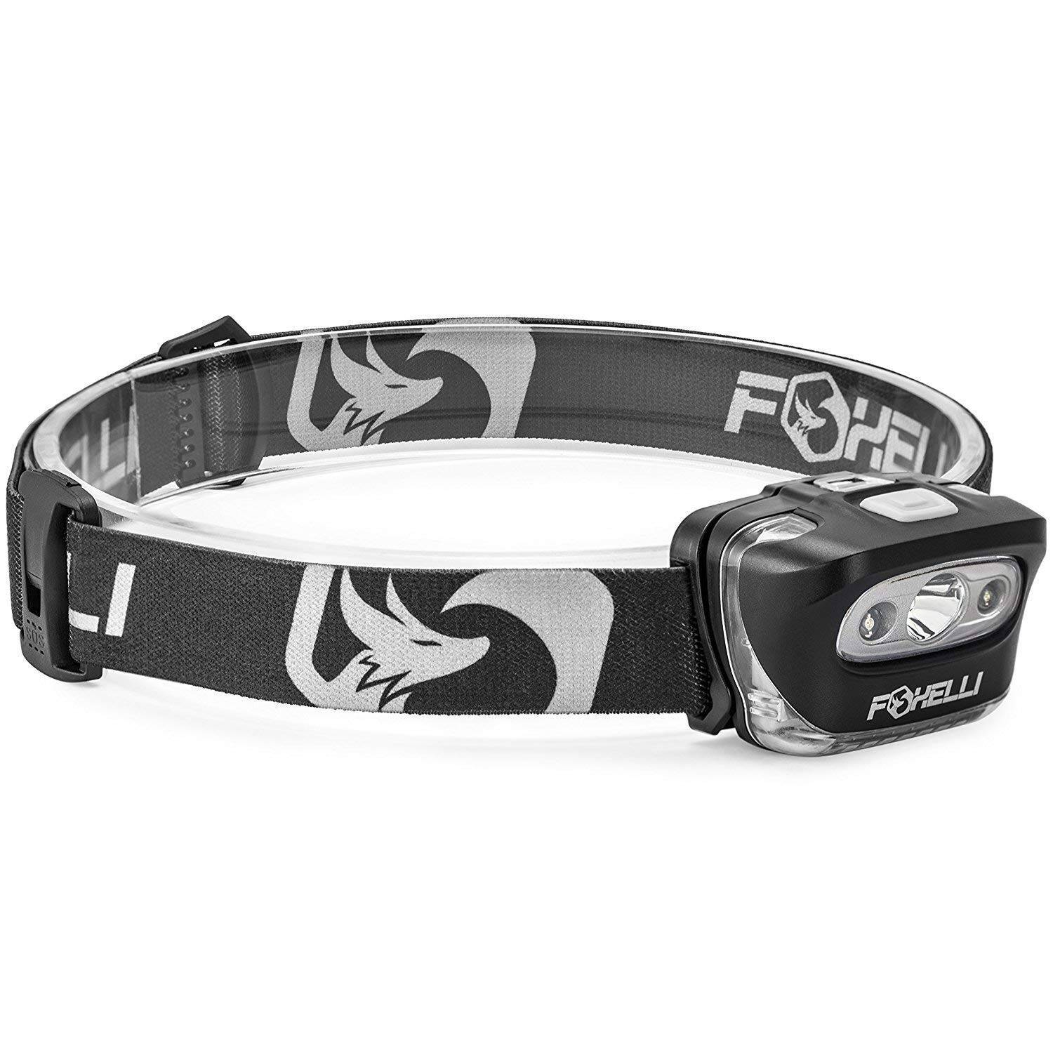 Foxelli Headlamp Flashlight - 165 Lumen