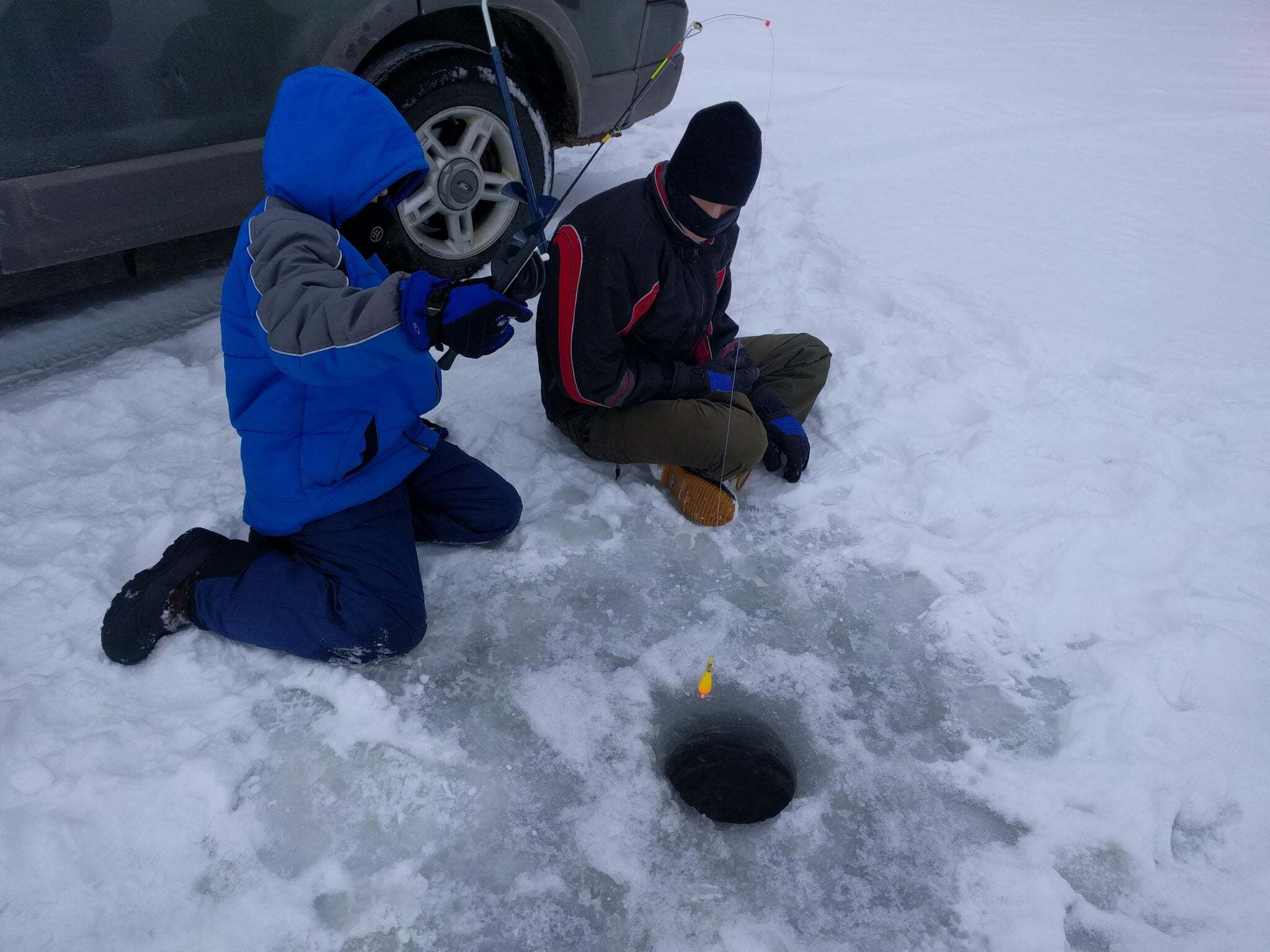 Freshwater ice fishing