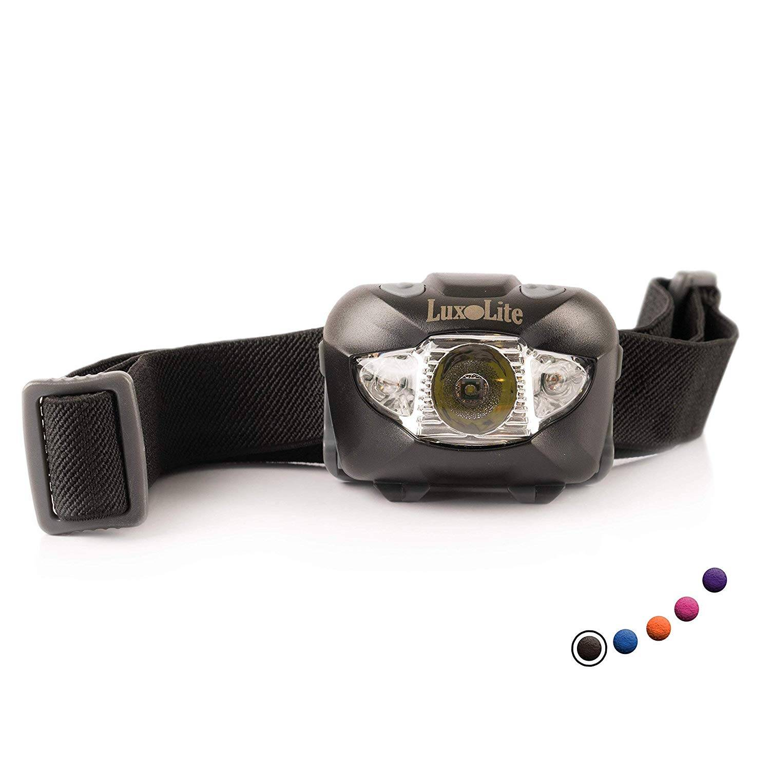 LED Headlamp Flashlight with Red Led Light