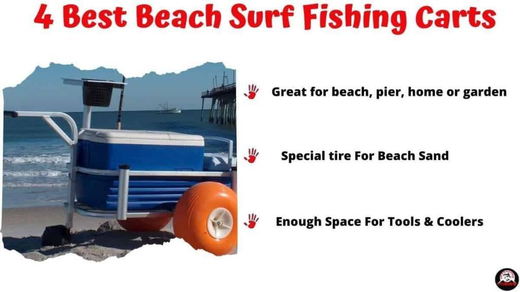Best Beach Surf Fishing Carts